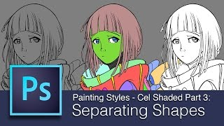 dart 135 intro to digital painting cel shaded part 3 separating shapes