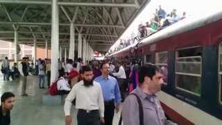 Jampacked Bannihal to Baramulla train at Srinagar Station