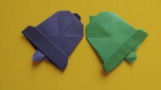 КОЛОКОЛЬЧИК - Легкое Новогоднее Оригами из Бумаги Своими Руками. Видео урок