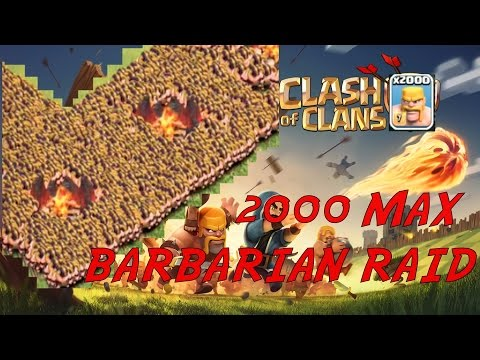 Clash of Clans - 2000 MAX BARBARIAN RAID ON MAX TH10! EPIC 3 STAR