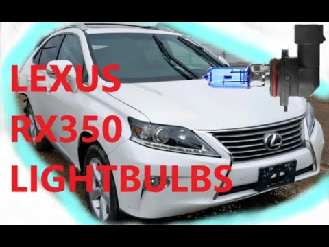 How to Replace Head light Bulbs On 13-15 Lexus RX 350