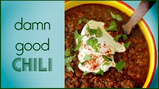 Damn Good Chili Recipe - 4 Hour - No Bean Chili  Low Fat Low Carb