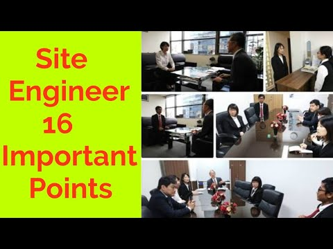Site Engineer 16 Important Points   Civil Engineer Interview Questions   Basic Building Construction