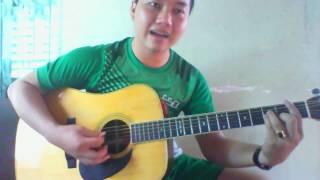 xin em đừng khóc vu quy- guitar cover (Fm)