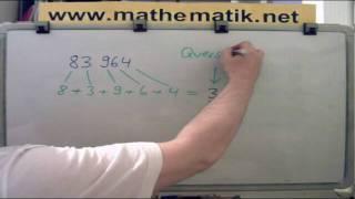 Teibarkeitsbeweise, die auf Quersummen beruhen: Die Teilbarkeit durch 3 und 9
