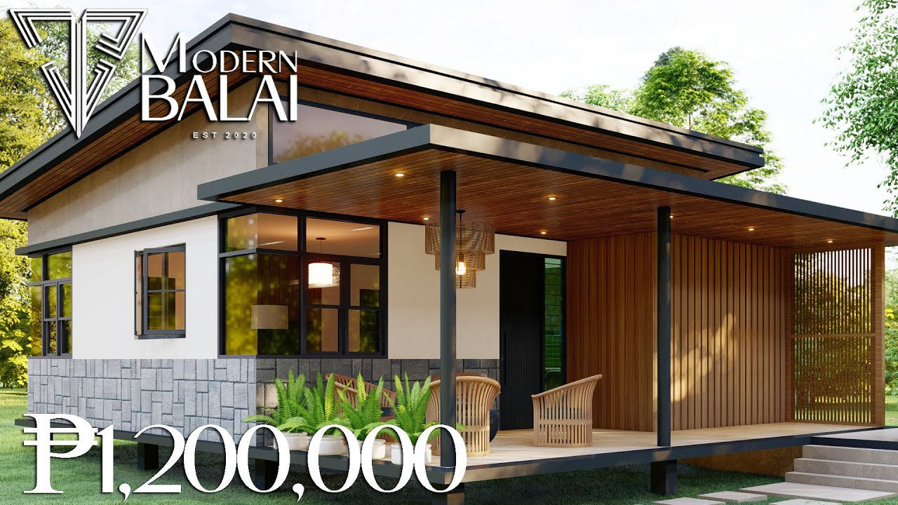 PINOY SMALL HOUSE DESIGN | 83 SQM. THREE BEDROOM LOW-COST HOUSE | MODERN BALAI