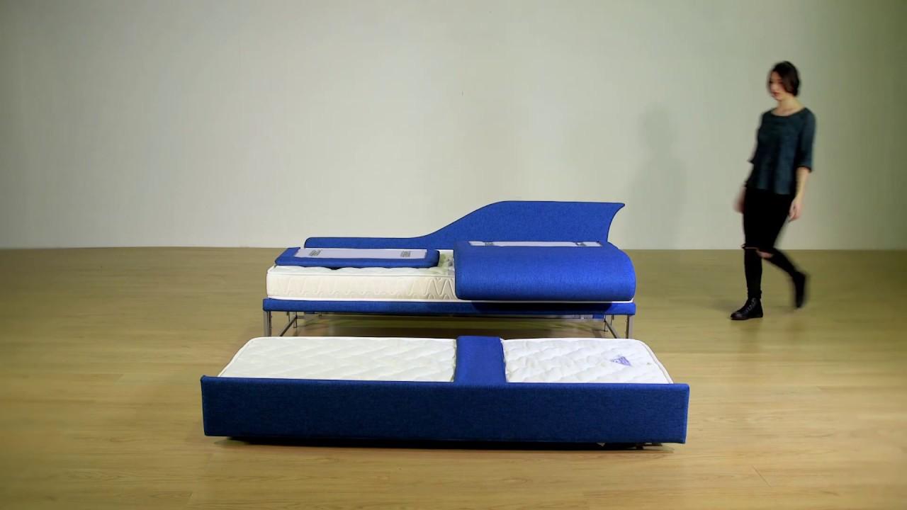 Come Trasformare Un Letto Singolo In Un Divano.Come Si Monta Un Letto Estraibile Arrediweb Double Bed Made In Italy