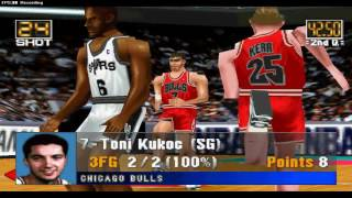 Retro PSX NBA In The Zone Gameplay San Antonio Spurs vs Chicago Bulls