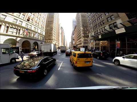 7th Ave 59th Street to lower Manhattan. New York. USA