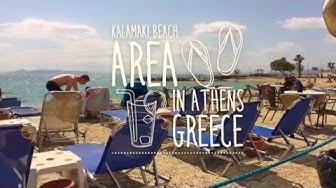 Kalamaki beach area in Athens, Greece