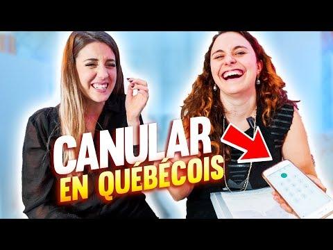 UNE PARISIENNE IMITE L'ACCENT QUÉBÉCOIS w/ Swann Périssé  *Canular téléphonique*
