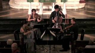Attacca Quartet Blooper!  Playing Haydn Op. 1 no. 3 -- Third Movement to an