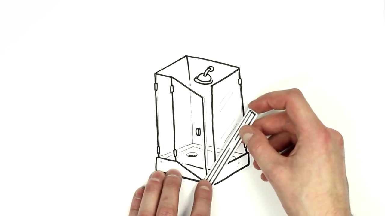 anleitung f r die selbstmontage von duschdichtungsprofilen. Black Bedroom Furniture Sets. Home Design Ideas