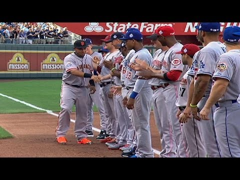 2012 ASG: National League starters are introduced