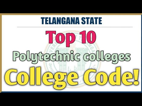 Top Polytechnic Colleges with Codes|| Polytechnic College Codes