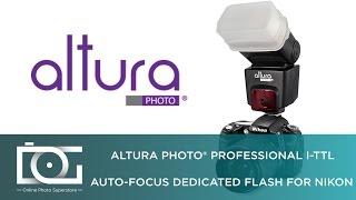 Altura Photo Professional Flash Kit For Nikon Dslr Includes I Ttl