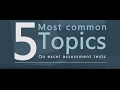 Excel Assessment Tests - The Five Most Common Topics