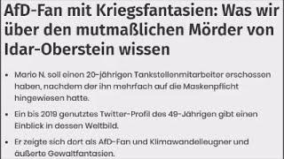 Mörder von Idar-Oberstein ist AfD-Fan und mag Maaßen und Tichy sehr❗️ Was auch sonst❓