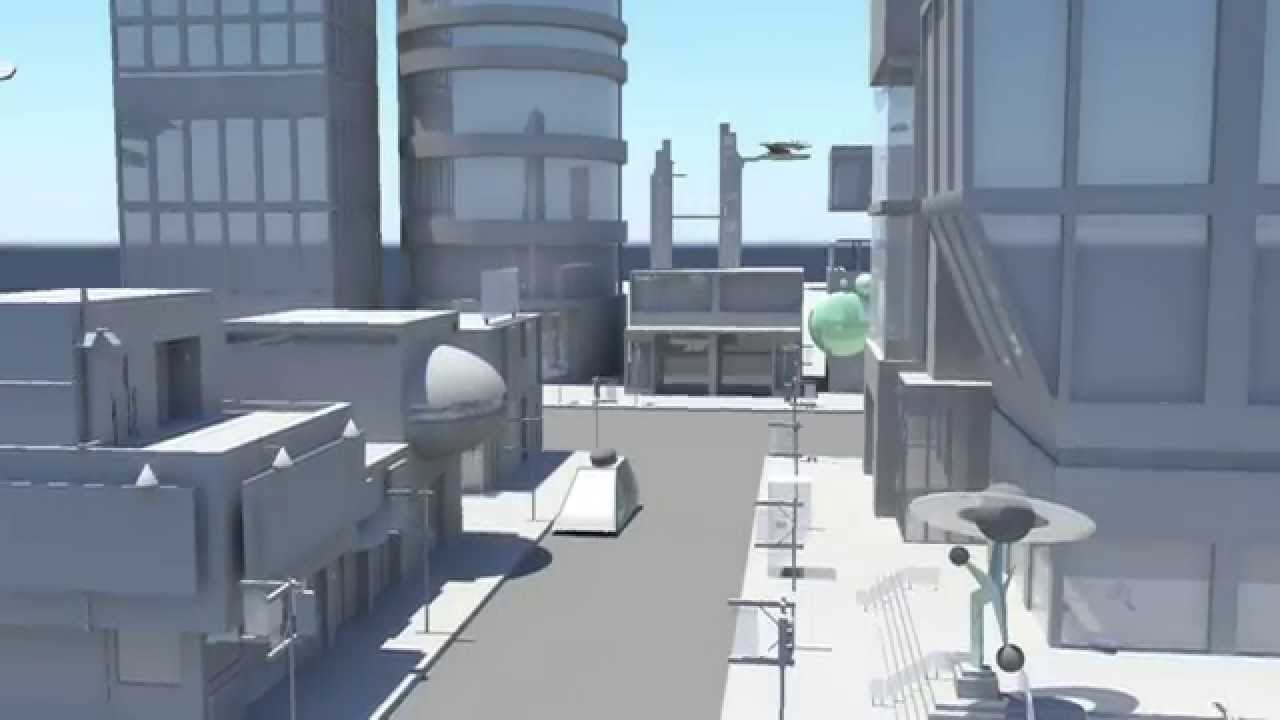 Maya 2012 3d City Model Amp Animation Youtube