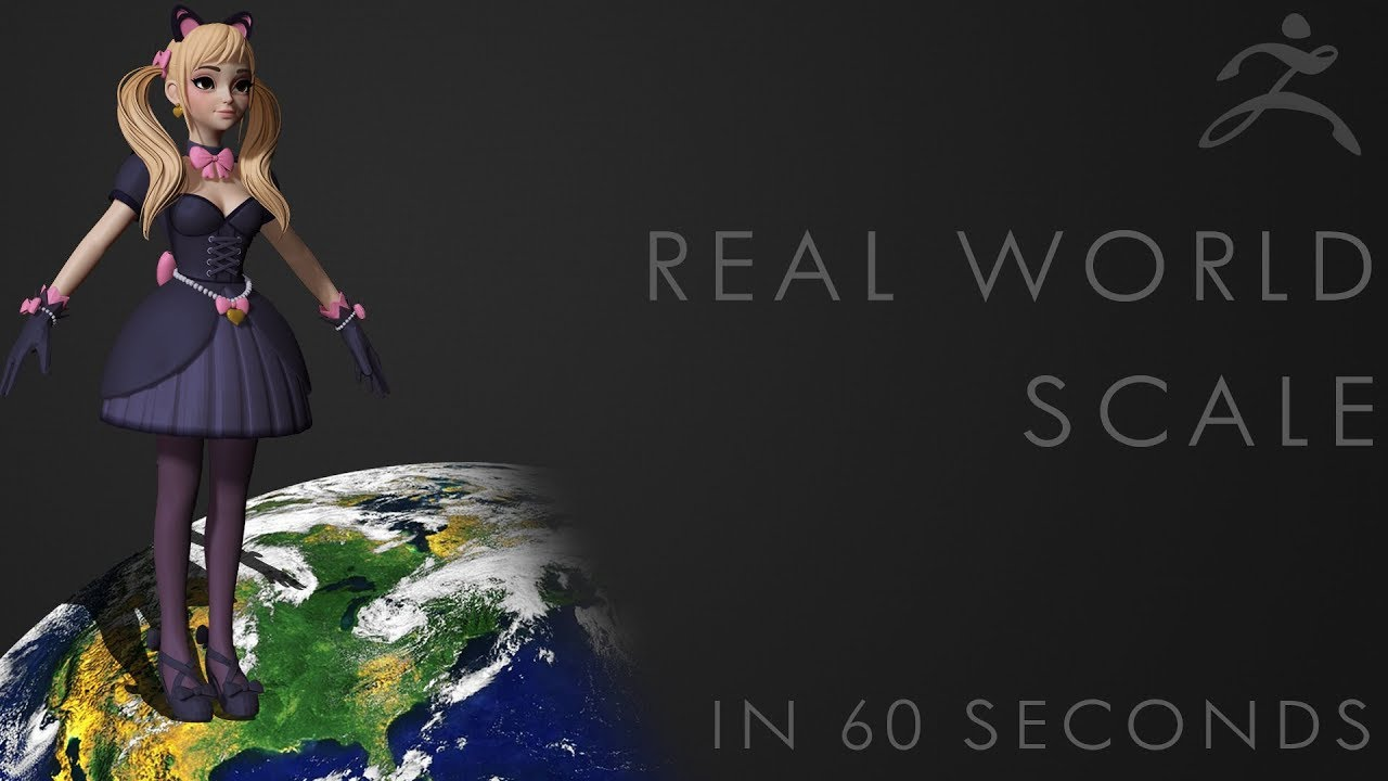 How to set REAL WORLD SCALE in ZBRUSH - 60 Second Tutorial
