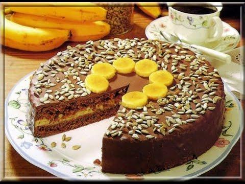 Recette de gateau chocolat banane