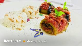 Kıymalı, Pratik Patlıcan Sarma Tarifi - Ev Lezzetleri