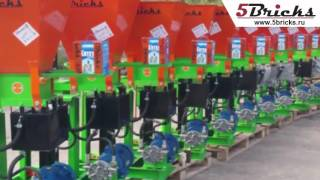 видео Производство кирпича из песка - Оборудование мини производства