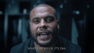 Dak Prescott with a video message for Kyler Murray