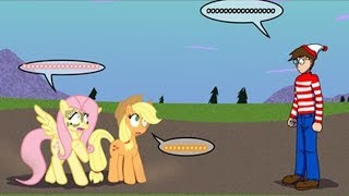 mlp comic dub derp rolled comedy crossover wheres waldo?
