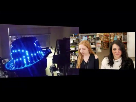 Jess cohosts Wearable Electronics with Becky Stern 1/6/2016 - LIVE