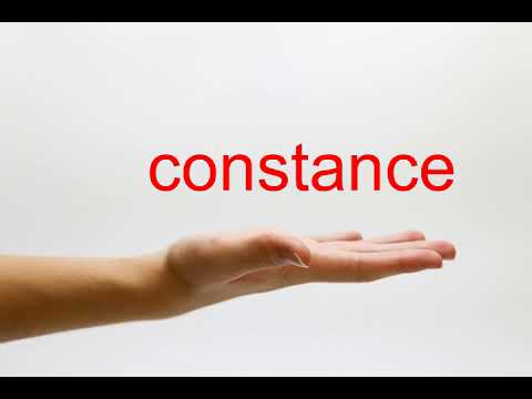 How to Pronounce constance - American English