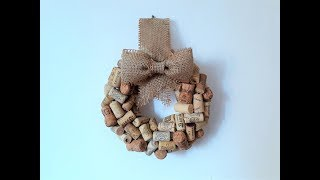 DIY Cork Wreath with Burlap Bow from Ivanka's little treasures