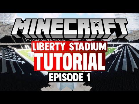 Minecraft Stadium Builds: Liberty Stadium [1] Pitch/Pitchside