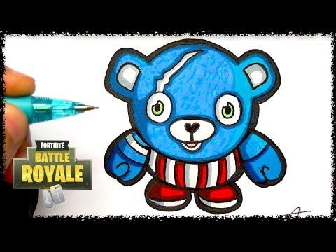 Baby Pop Comment Dessiner Le Nounourse Bleu Fortnite Youtube