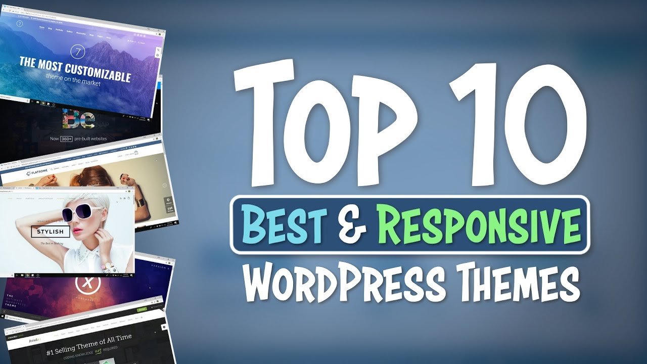 Top 10 Best and Responsive WordPress Themes