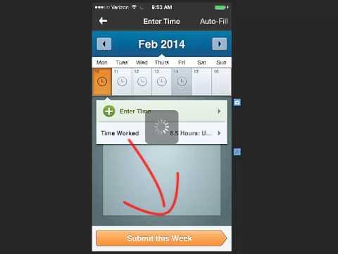 Entering Time Via Mobile App