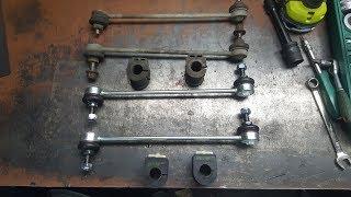 [PL/EN] Renault Laguna 2 - Stabiliser rubber mounting & bar links exchanging