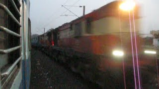 INDIAN RAILWAYS TWIN  ALCOS  with Ajmer Hyderabad Superfast crosses Trivandrum NZM Swarna Jayanti