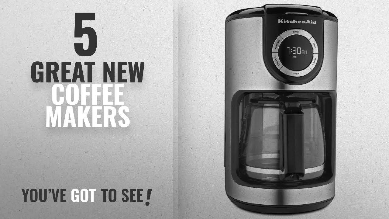 Top 10 Kitchenaid Coffee Makers [2018]: KitchenAid KCM1202OB 12-Cup Glass  Carafe Coffee Maker - Onyx