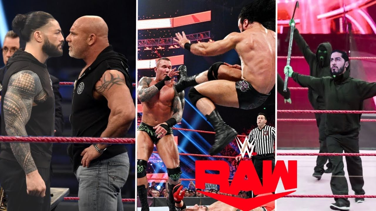 WWE Monday Night Raw 10th August 2020 Highlights Preview, What Goldberg Said About Roman reigns