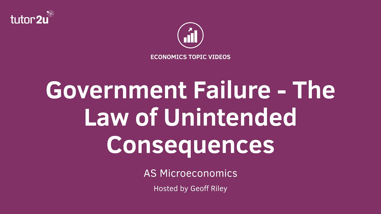unintended consequences from failure