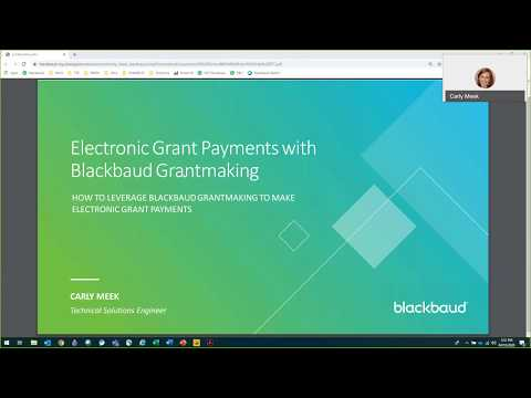 Electronic Payments using Blackbaud Grantmaking