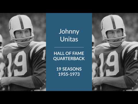 Johnny Unitas Hall of Fame Quarterback