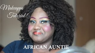 African Auntie Makeapps (up) Tutorial! | Afehyia Pa!! | Chanel Boateng Thumbnail