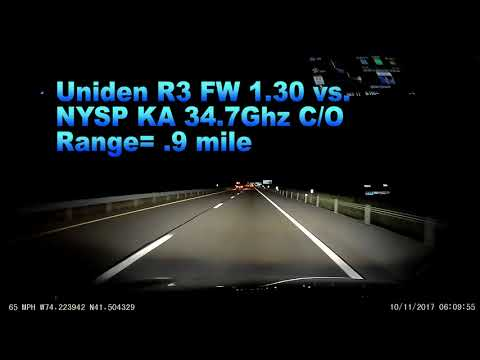 Uniden R3 FW 1 30 vs  NYSP KA 34 7 C/O