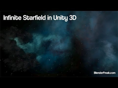 How to create infinite starfield for space scene in Unity