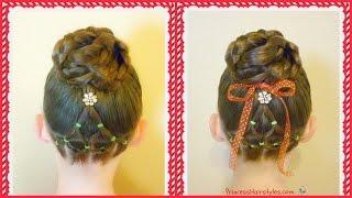 Elastic Christmas Tree Hairstyle & Bun