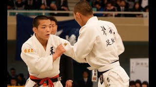 全国高校柔道選手権2018 男子66Kg決勝 西願寺哲平 ✖ 松村士 tv2ne1