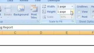 How to show the gridlines between rows and columns when printing a spreadsheet Excel