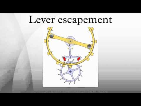 Lever escapement